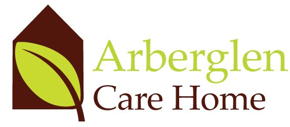 Arberglen care home logo with link to website